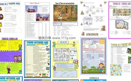 《three be 句型(二)语法专项作业纸》15份英文练习原生PDF 百度网盘下载