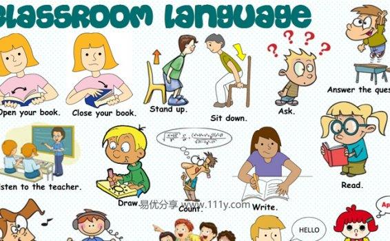 《Classroom language》10份精美词汇海报原生PDF 百度网盘下载