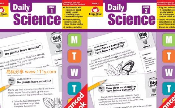 《Daily Science 科学知识1-6年级》英文练习册原生高清PDF 百度网盘下载