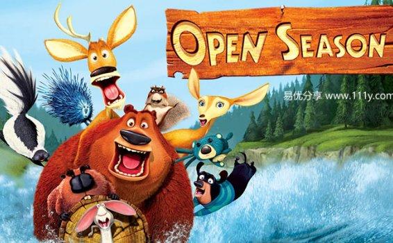 《丛林大反攻 Open Season》1-4部大电影 英文版 百度网盘下载