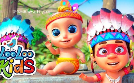《Looloo Kids》经典英文儿歌45首 英语启蒙MP4 百度网盘下载