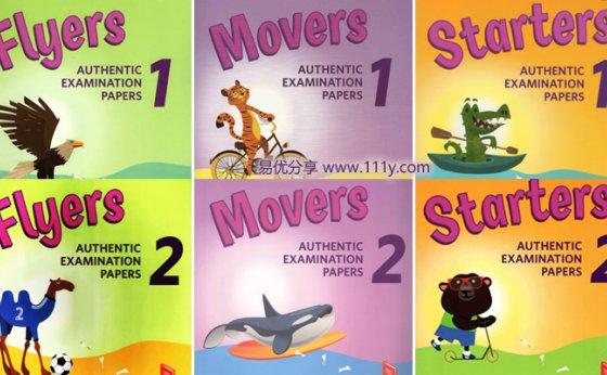 《剑桥Cambridge English少儿英语真题集》Starters&Movers&Flyers 百度网盘下载