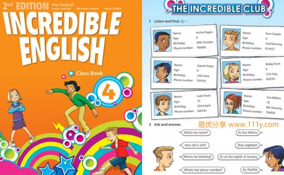 《牛津Incredible English全6级》6-12岁英文教材 百度网盘下载