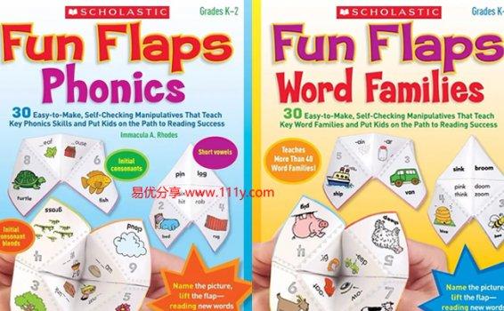 《学乐Fun Flaps Phonics & Word Families》亲子课堂练习册 百度网盘下载