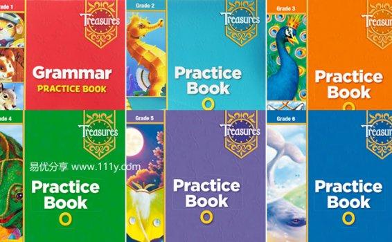 《Treasures Practice Book加州小学练习册》1-6年级PDF 百度网盘下载