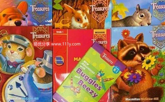 《加州语文Treasures练习册G1-G6》幼儿园小学1-6年级PDF 百度网盘下载