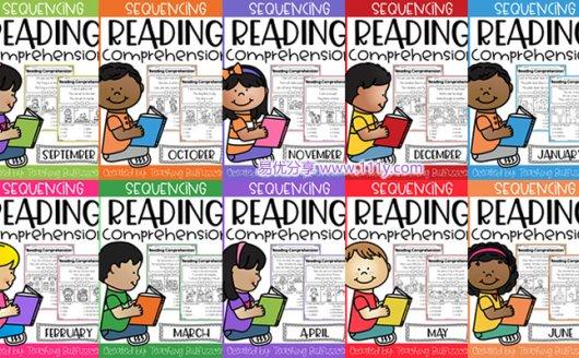 《Reading Comprehension》10册初级阅读英文练习册PDF 百度网盘下载