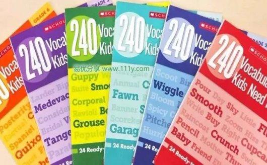 《学乐240 Vocabulary Words G1-G6》全六册单词练习册 百度网盘下载