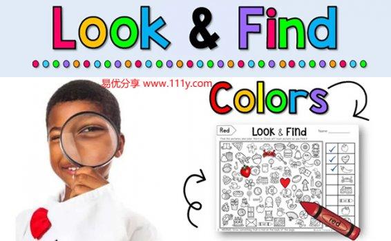 《Look & Find Colors》找找看涂色游戏思维训练必备练习 百度网盘下载