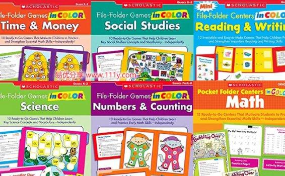 《学乐File-Folder Games in Color》六册启蒙游戏学习书 百度网盘下载