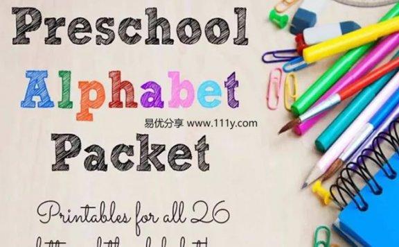 《Preschool Alphabet Packet》英文字母启蒙练习册PDF 百度网盘下载