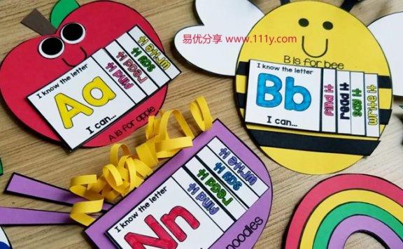 《Alphabet Crafts and interactive books》字母手工练习册 百度网盘下载