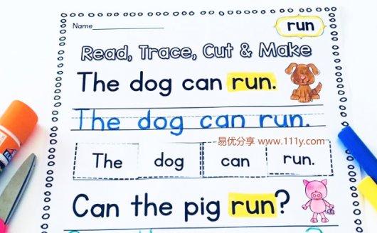 《Sight Words Fluency Practice》高频词练习册描红涂色PDF 百度网盘下载