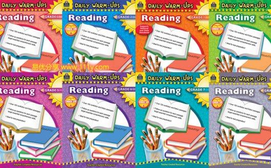 《Daily warm-ups Reading》G1-G8 阅读理解英文练习册PDF 百度网盘下载