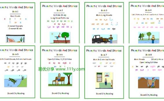 《Phonics Patterns And Stories》1300页自然拼读高频词作业纸 百度网盘下载