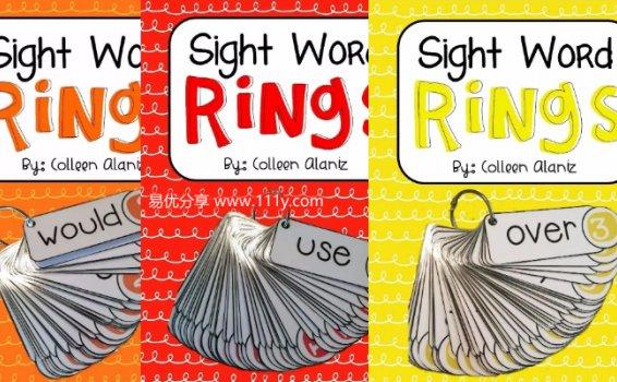 《Sight Word Rings高频词随身卡》孩子英语启蒙必备 百度网盘下载