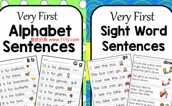 《Very First Alphabet Sentences》高频词汇单词造句练习册 百度网盘下载
