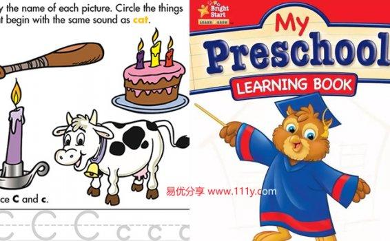 《My Preschool learning book》近400页全彩超清字母练习册PDF 百度网盘下载