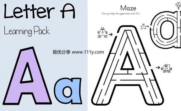 《26个英文字母学习册》共26册幼儿英语启蒙PDF 百度网盘下载