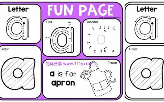 《Color Alphabet Fun Pages》字母练习纸英语基础启蒙PDF 百度网盘下载