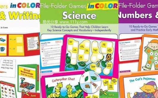 《File-Folder Games in Color》六册学乐亲子启蒙游戏书PDF 百度网盘下载