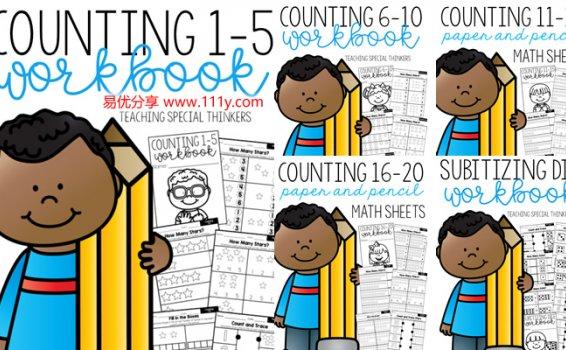 《Math Workbooks Mega-bundle》30册数学启蒙练习册 百度网盘下载