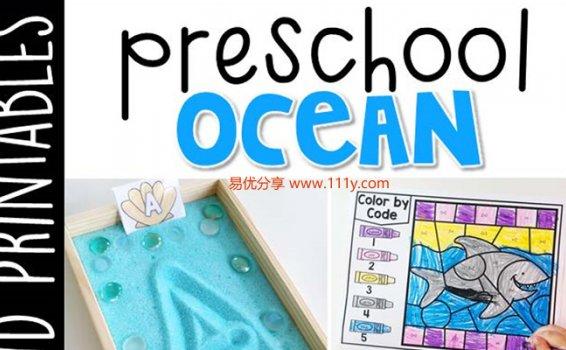 《Preschool Ocean幼儿园主题活动》锻炼孩子精细动手能力PDF 百度网盘下载