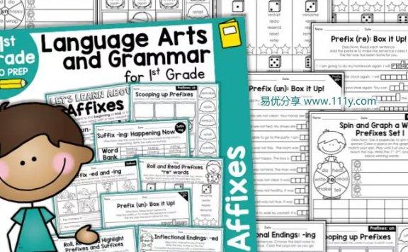 《Language Arts and Grammar》全46册情景英文语法练习册 百度网盘下载