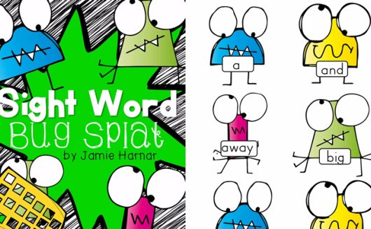 《Sight Word Bug Splat》高频词拍打苍蝇互动游戏PDF  百度网盘下载