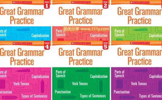 《Great Grammar Practice》全套1-6级小学语法英文练习册 百度网盘下载