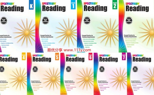 《Spectrum Reading Workbook 》GK-G8阅读理解练习册PDF 百度云网盘下载
