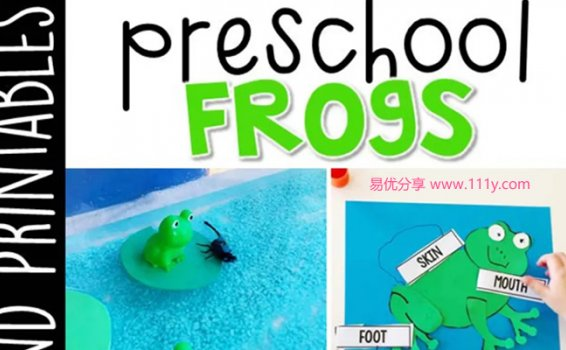 《Preschool Frogs》幼儿园主题互动书技能启蒙PDF 百度网盘下载