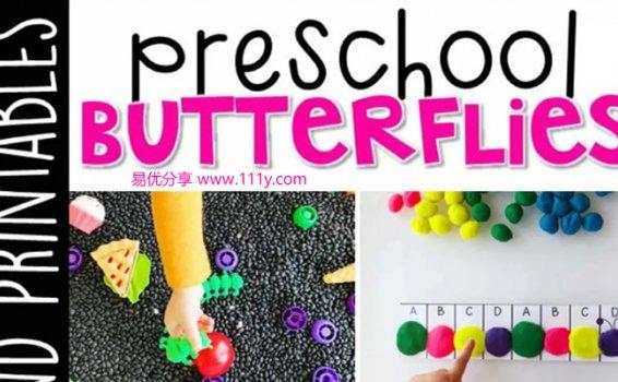 《Preschool Butterflies》幼儿园主题互动书技能启蒙PDF 百度网盘下载