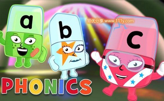《字母积木Alphablocks》1-4季全91集英文启蒙MP4动画视频 百度网盘下载