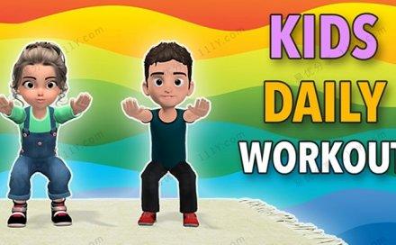 《Little Sports》39节儿童趣味运动课MP4动画视频 百度网盘下载