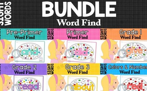 《Sight Words Center Word Find》260页高频词找找看PDF 百度网盘下载