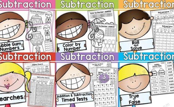 《Addition and Subtraction》16册468页20以内加减法作业纸 百度网盘下载