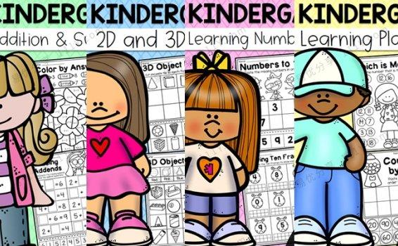 《Kindergarten Math Worksheet Bundle》四册数学加减法作业纸PDF 百度网盘下载