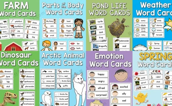 《picture-word cards》28个主题英语启蒙英文闪卡PDF 百度网盘下载