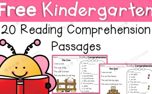 《20 Reading Comprehension》阅读理解短文练习册PDF 百度云网盘下载