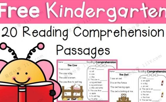 《20 Reading Comprehension》阅读理解短文练习册PDF 百度网盘下载