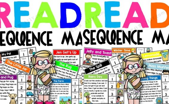 《Read And Sequence Mats》阅读理解排序两册PDF 百度网盘下载