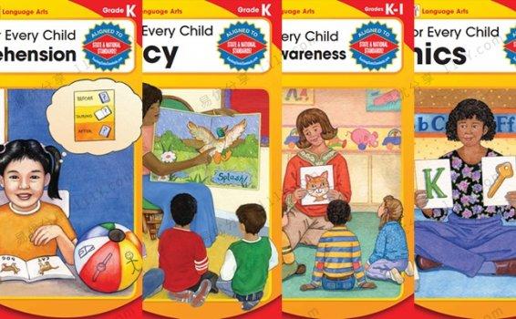 《Reading for every child》K系列阅读理解四册练习册PDF 百度网盘下载
