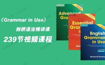 《Grammar in Use》239节初级中级语法精讲视频课程 百度网盘下载