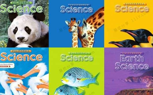 《California Science加州科学G1-G6》英文教材闪卡读本PDF 百度网盘下载