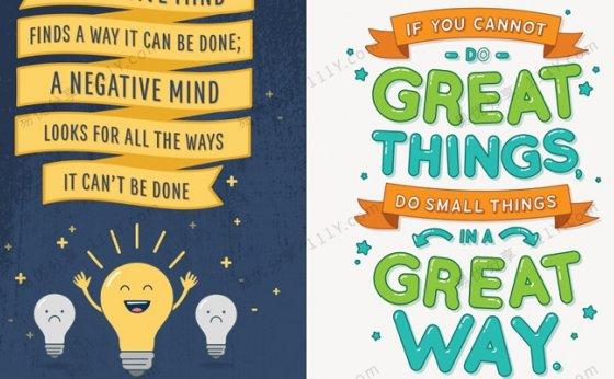 《激励鸡汤英文海报》3套美式英语教室环创素材PDF 百度网盘下载