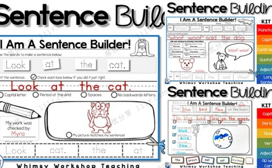 《Sentence Building》K1-K3英语造句练习册PDF 百度网盘下载