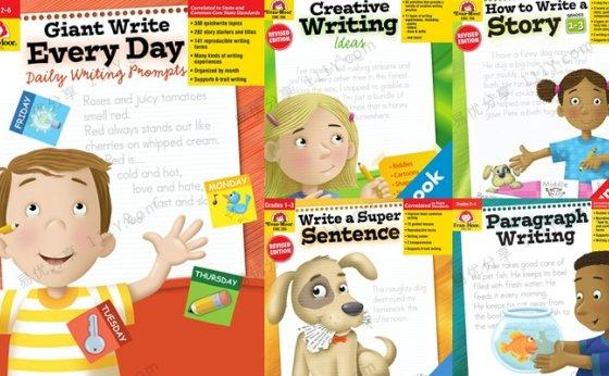 《How to Write A Story》五册儿童英文写作练习册PDF 百度网盘下载