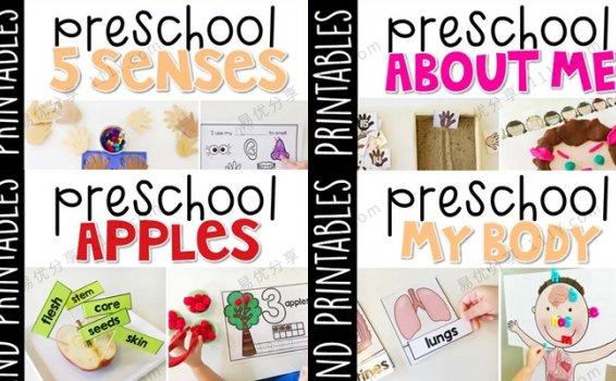 《Preschool My Body》四册五官认知身体知识作业纸 百度网盘下载