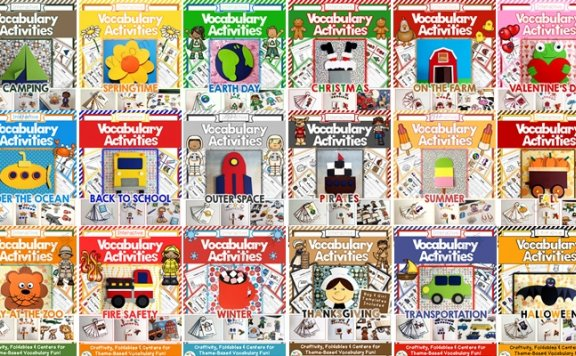 《Vocabulary Activities系列》24套主题风琴书英语素材包 百度网盘下载